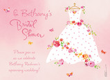 Bridal Shower Rose Dress 7x5 Folded Card
