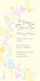 Alphabet Baby Shower 4x8 Flat Card