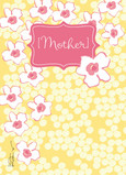 Yellow Flowers for Mom 5x7 Folded Card