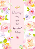 Colorful Flower Feel Special 5x7 Folded Card