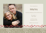 Red Berry Holiday Party 7x5 Flat Card