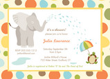 Squirting Elephant 7x5 Flat Card
