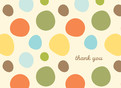 Different Color Dots 5.25x3.75 Folded Card