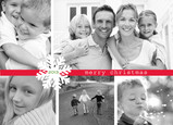 Multi Photo Snowflake Christmas 7x5 Folded Card