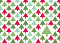 Multi Color Christmas Trees 5.25x3.75 Folded Card