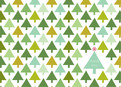 Green Christmas Trees 5.25x3.75 Folded Card