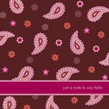 Paisley Pink Note 4.75x4.75 Folded Card