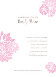 Pink Blossom Shower 5x7 Flat Card