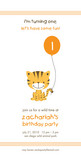 Little Tiger Party 4x8 Flat Card