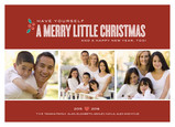 Holly Little Christmas 7x5 Flat Card