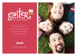 Pink Easter Blessings 7x5 Flat Card