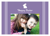 Purple Bunny Easter 7x5 Flat Card