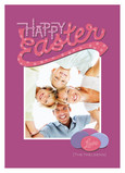 Fuchsia Happy Easter 5x7 Flat Card