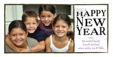 Black White New Year 8x4 Flat Card
