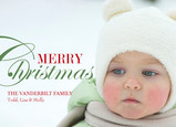Merry Christmas Overlay 7x5 Flat Card
