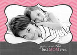 Pink and Gray Frame 7x5 Folded Card