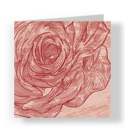 Ruffled Rose 4.75x4.75 Folded Card