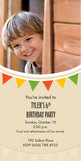 Birthday Flag Invite 4x8 Flat Card