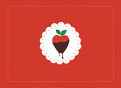 Chocolate Strawberry 5.25x3.75 Folded Card