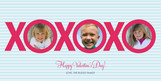 XOXOXO Photo 8x4 Flat Card