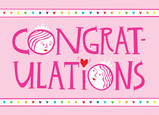 Ladies Congrats 7x5 Folded Card