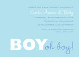 Boy Oh Boy Invite 7x5 Flat Card