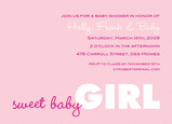 Sweet Pink Invite 7x5 Flat Card