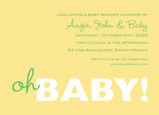 Yellow Oh Baby Invite 7x5 Flat Card