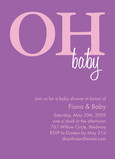 Rose Oh Baby Invite 5x7 Flat Card