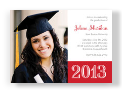 Bold Red Grad 7x5 Flat Card
