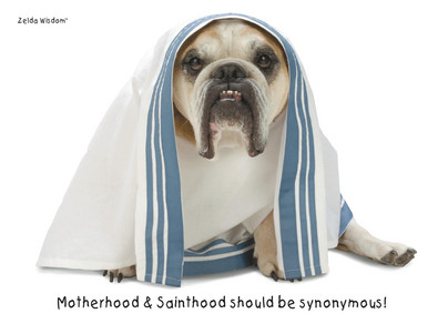 Mother Saint Bulldog 7x5 Folded Card