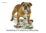 China Shop Bulldog 7x5 Folded Card