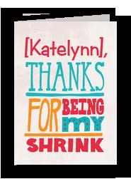 Thanks Shrink 5x7 Folded Card