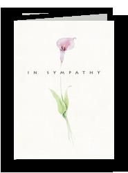 Lily Sympathy 5x7 Folded Card
