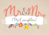 Mr and Mrs Flowers 7x5 Folded Card