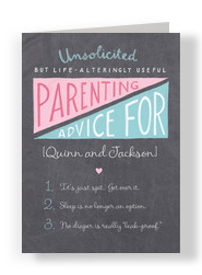 Unsolicited Parenting Advice 5x7 Folded Card