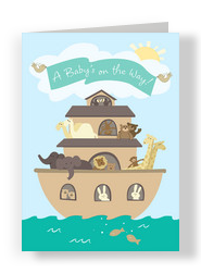 Noahs Ark Baby 5x7 Folded Card