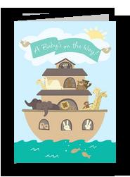 Noahs Ark Baby 5x7 Folded Card