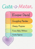 Cute o Meter 5x7 Folded Card