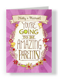 Amazing Parents 5x7 Folded Card