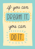Dream it Do it 5x7 Folded Card