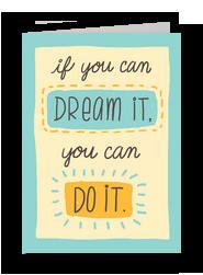 Dream it Do it 5x7 Folded Card