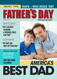 Fathers Day Magazine 5x7 Folded Card
