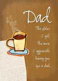 Coffee with Dad 5x7 Folded Card