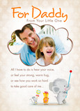 For Daddy 5x7 Folded Card