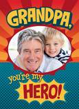 Grandpa Hero 5x7 Folded Card