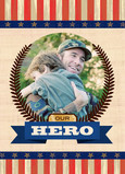 Dads Our Hero 5x7 Folded Card
