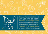 Dad to Be 7x5 Folded Card