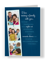 Raising a Family Together 5x7 Folded Card