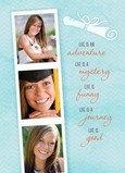 Photobooth Strip Graduate 5x7 Folded Card